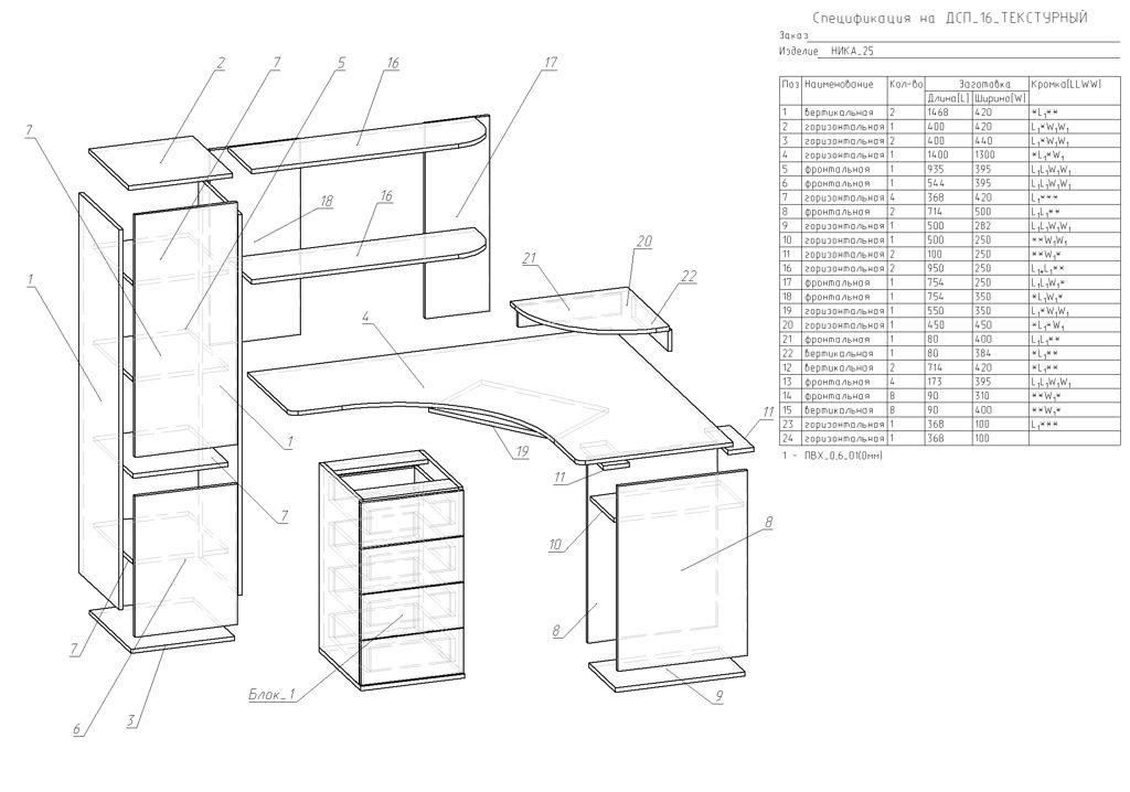 Инструкция сборки стол компьютерный