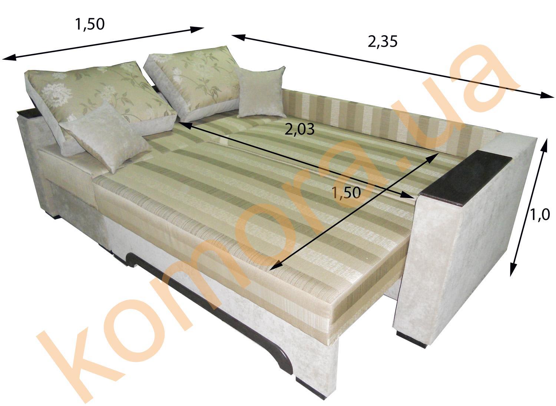 раскладной угловой диван даллас